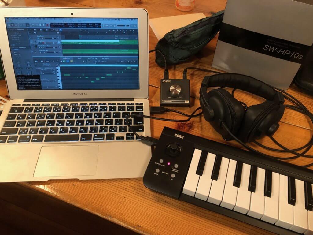 ノートパソコンで作曲活動